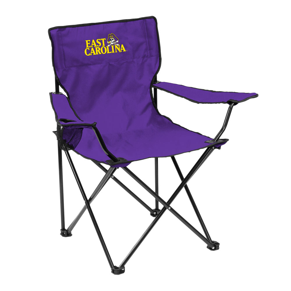East Carolina Pirates QUAD style logo folding camp chair