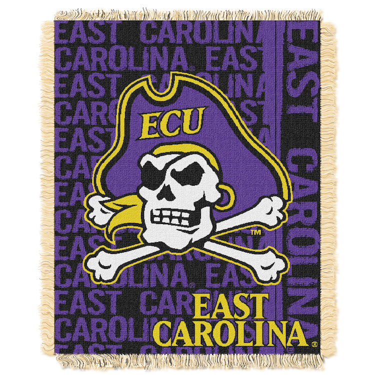 East Carolina Pirates Double Play Tapestry Blanket 48 x 60