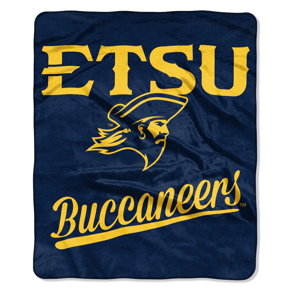 East Tennessee State Buccaneers Plush Fleece Raschel Blanket 50 x 60