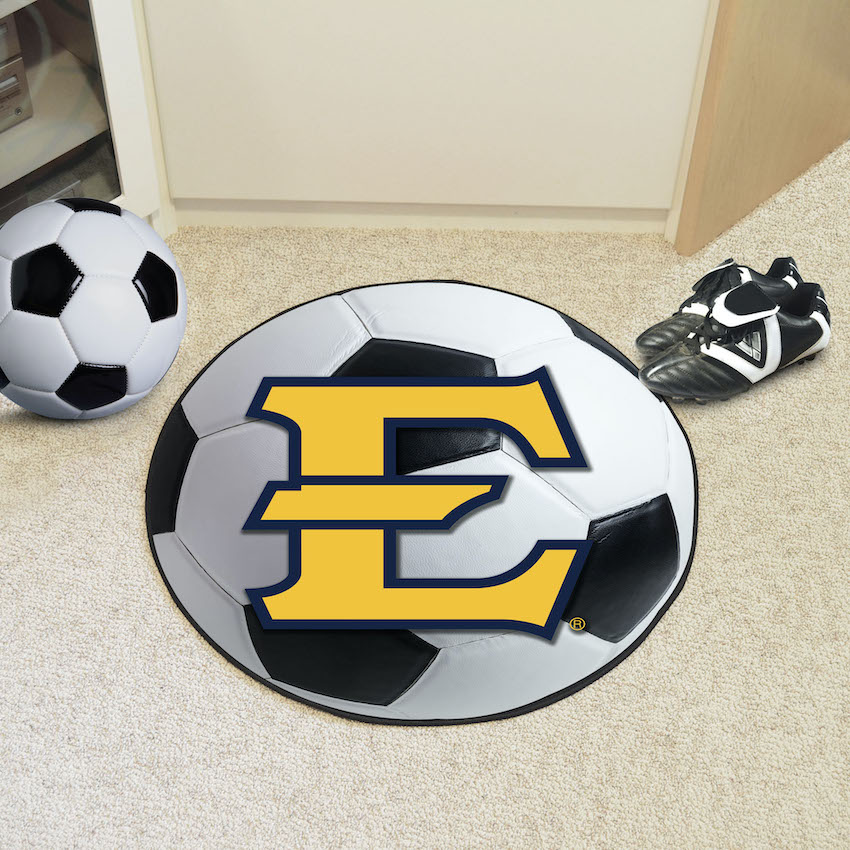 East Tennessee State Buccaneers SOCCER BALL Mat