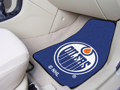 Edmonton Oilers Car Floor Mats 18 x 27 Carpeted-Pair