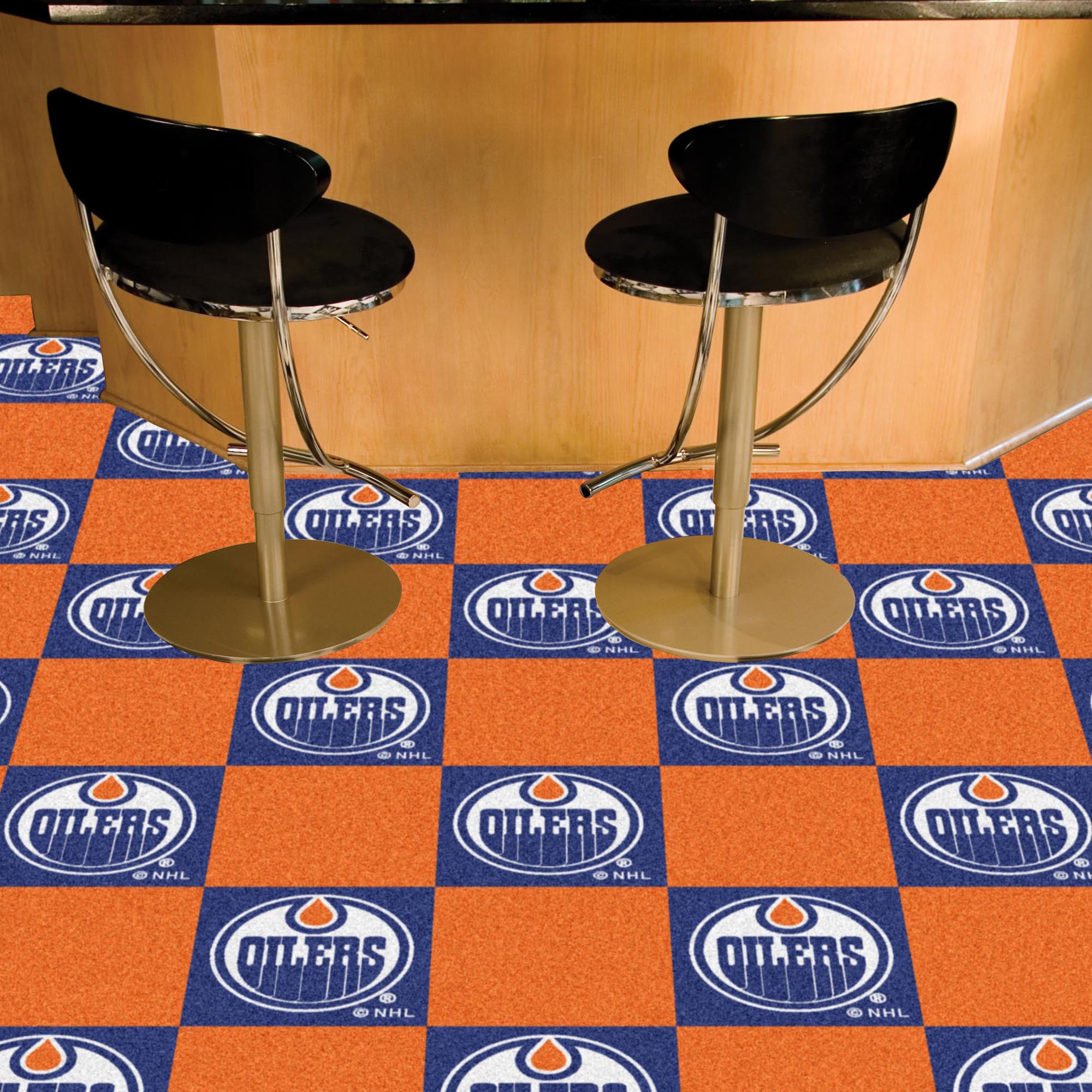 Edmonton Oilers Carpet Tiles 18x18 in.