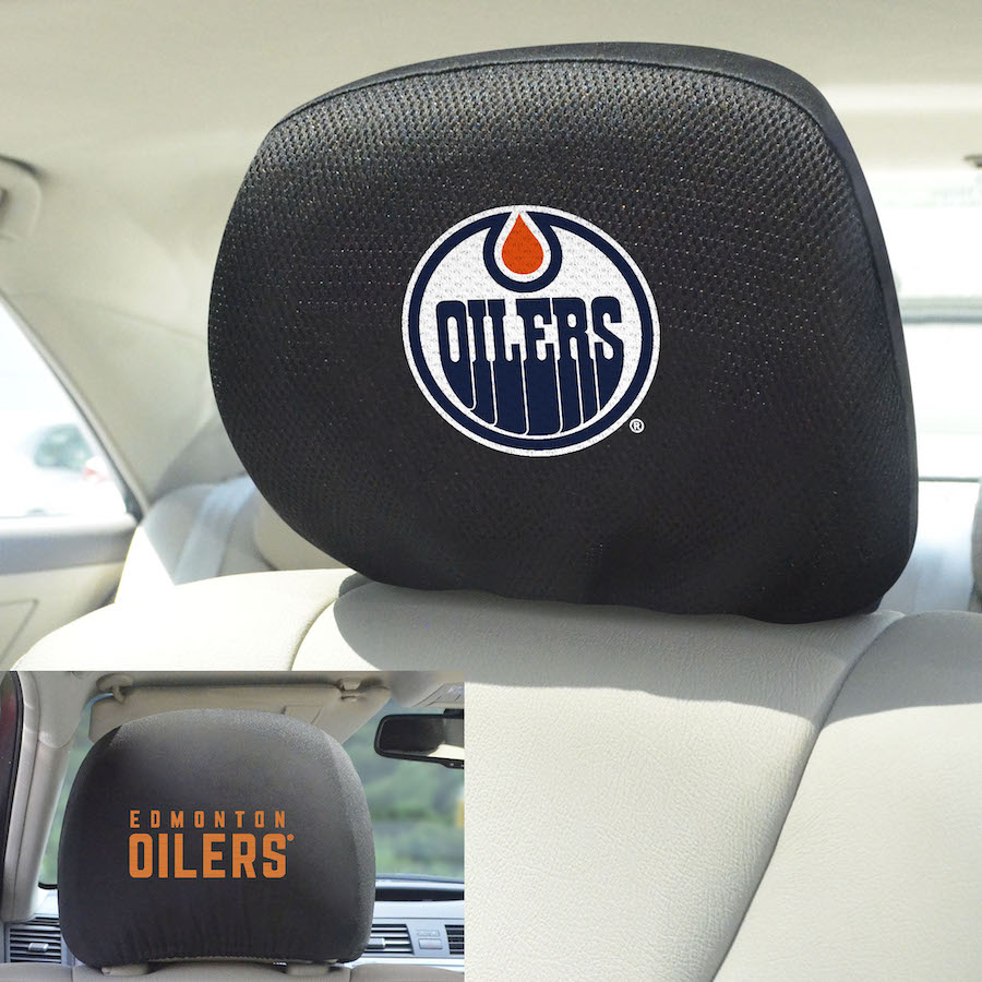 Edmonton Oilers Head Rest Covers
