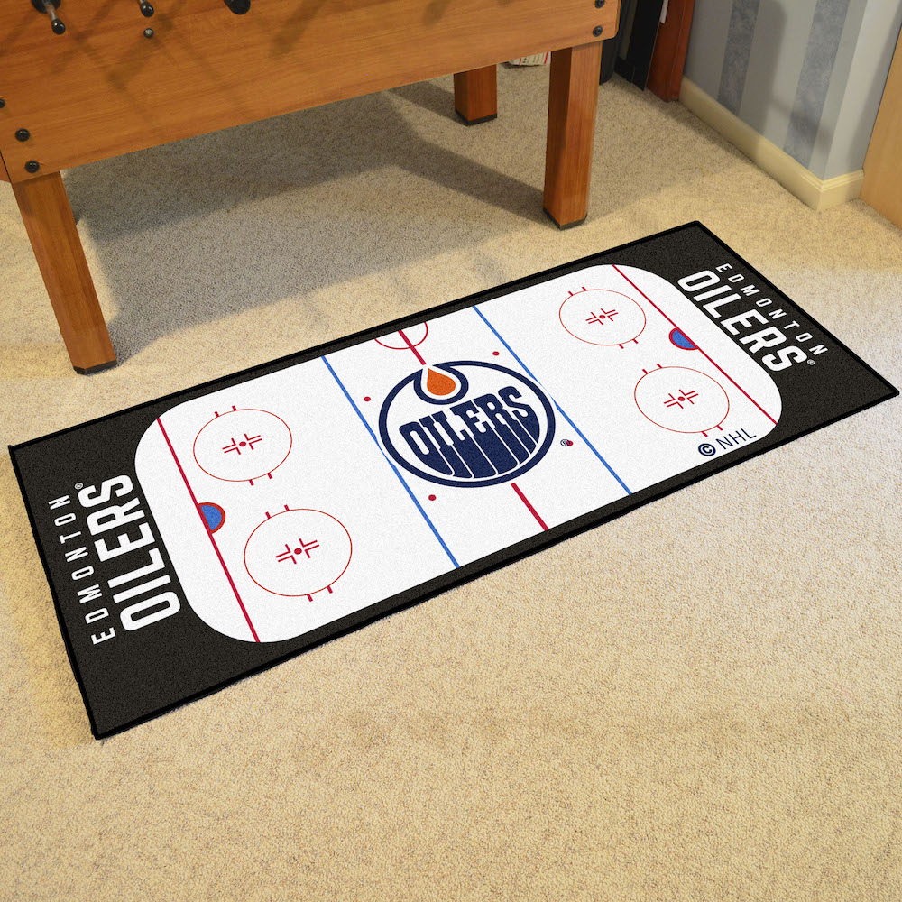 Edmonton Oilers 30 x 72 Hockey Rink Carpet Runner