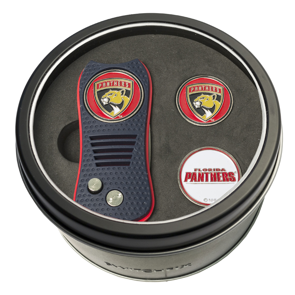 Florida Panthers Switchblade Divot Tool and 2 Ball Marker Gift Pack