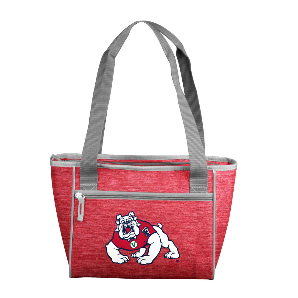 Fresno State Bulldogs Crosshatch 16 Can Cooler Tote