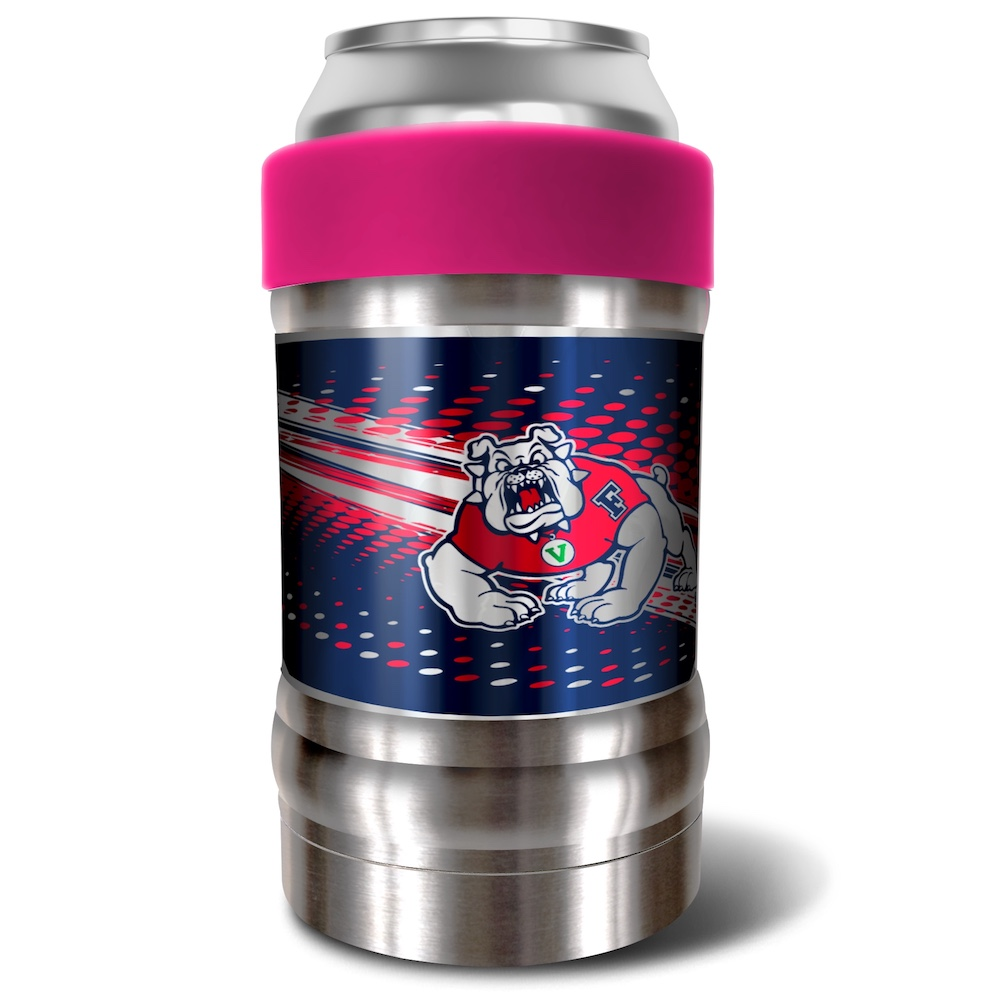 Fresno State Bulldogs LOCKER NCAA Insulated Can and Bottle Holder - Pink