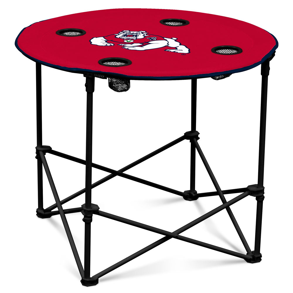 Fresno State Bulldogs Round Tailgate Table