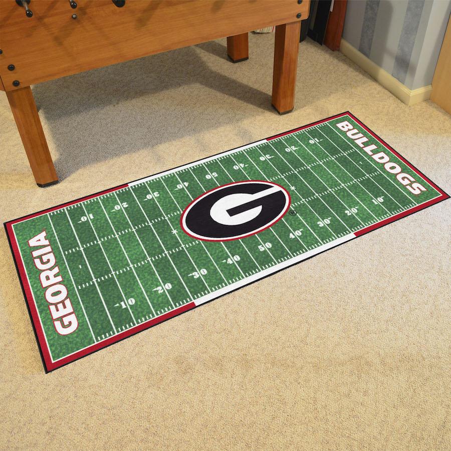 Georgia Bulldogs Football Field Runner 30 X 72 Floor Mat