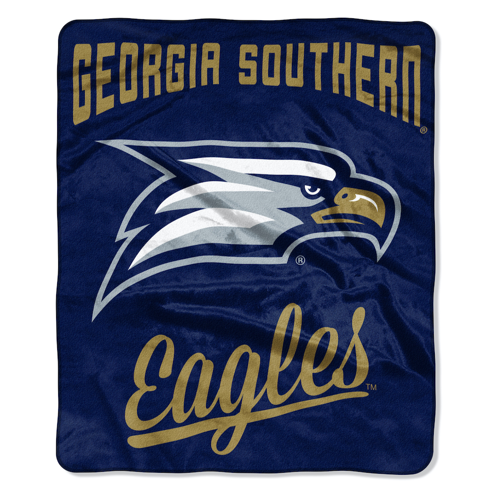 Georgia Southern Eagles Plush Fleece Raschel Blanket 50 x 60