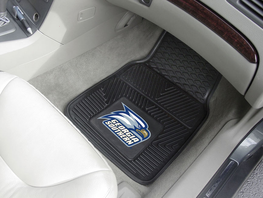 Georgia Southern Eagles Car Floor Mats 18 x 27 Heavy Duty Vinyl Pair