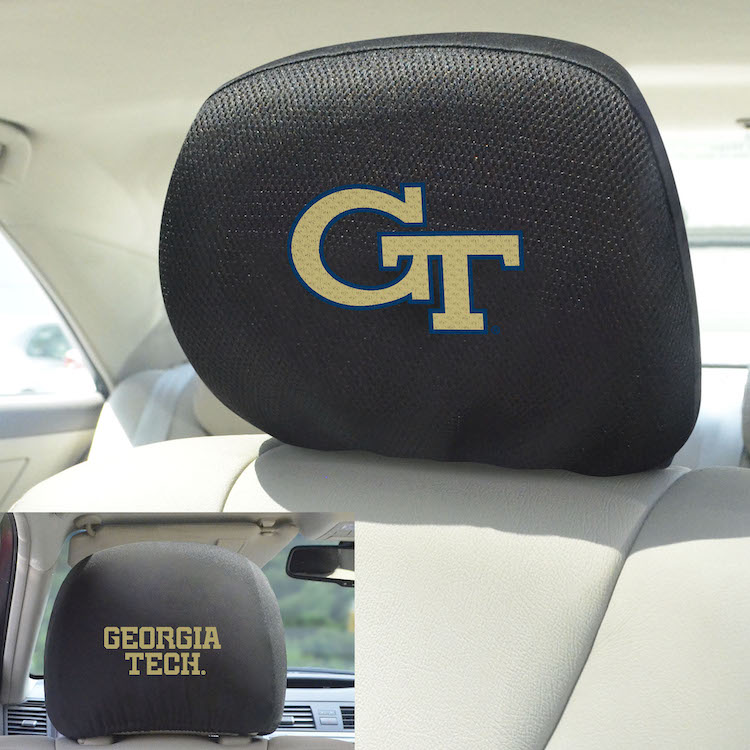 Georgia Tech Yellow Jackets Head Rest Covers
