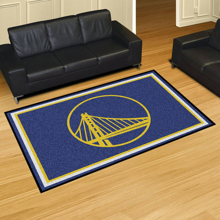 Golden State Warriors 5x8 Area Rug Buy At Khc Sports
