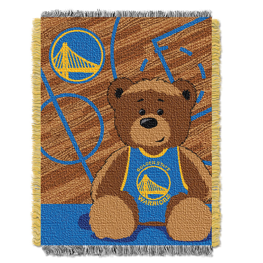 Golden State Warriors Woven Baby Blanket 36 X 48 Buy At