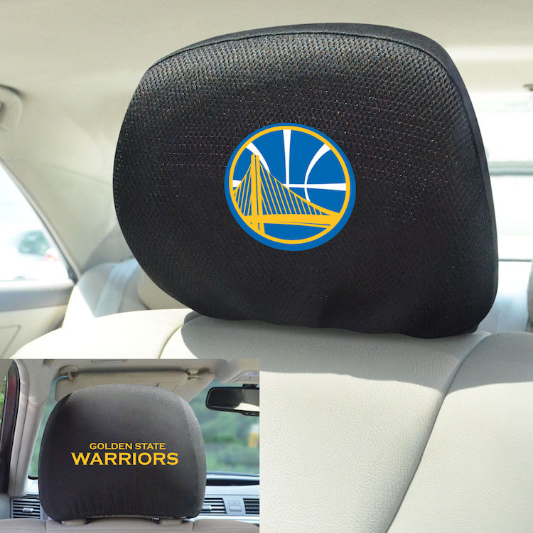 Golden State Warriors Head Rest Covers