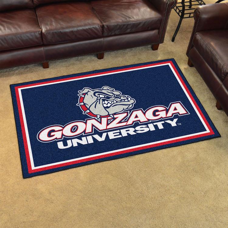 Gonzaga Bulldogs 4x6 Area Rug