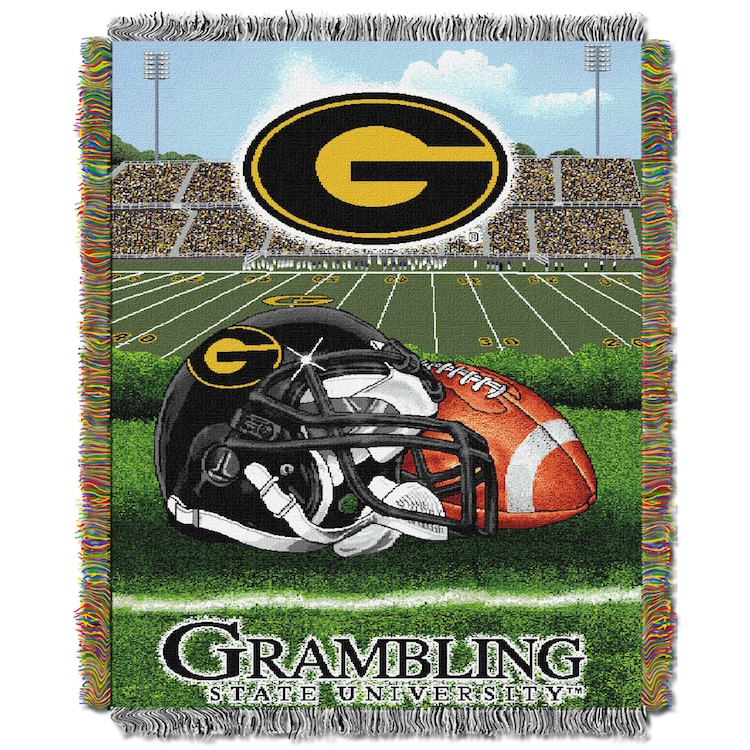 Grambling State Tigers Home Field Advantage Series Tapestry Blanket 48 x 60
