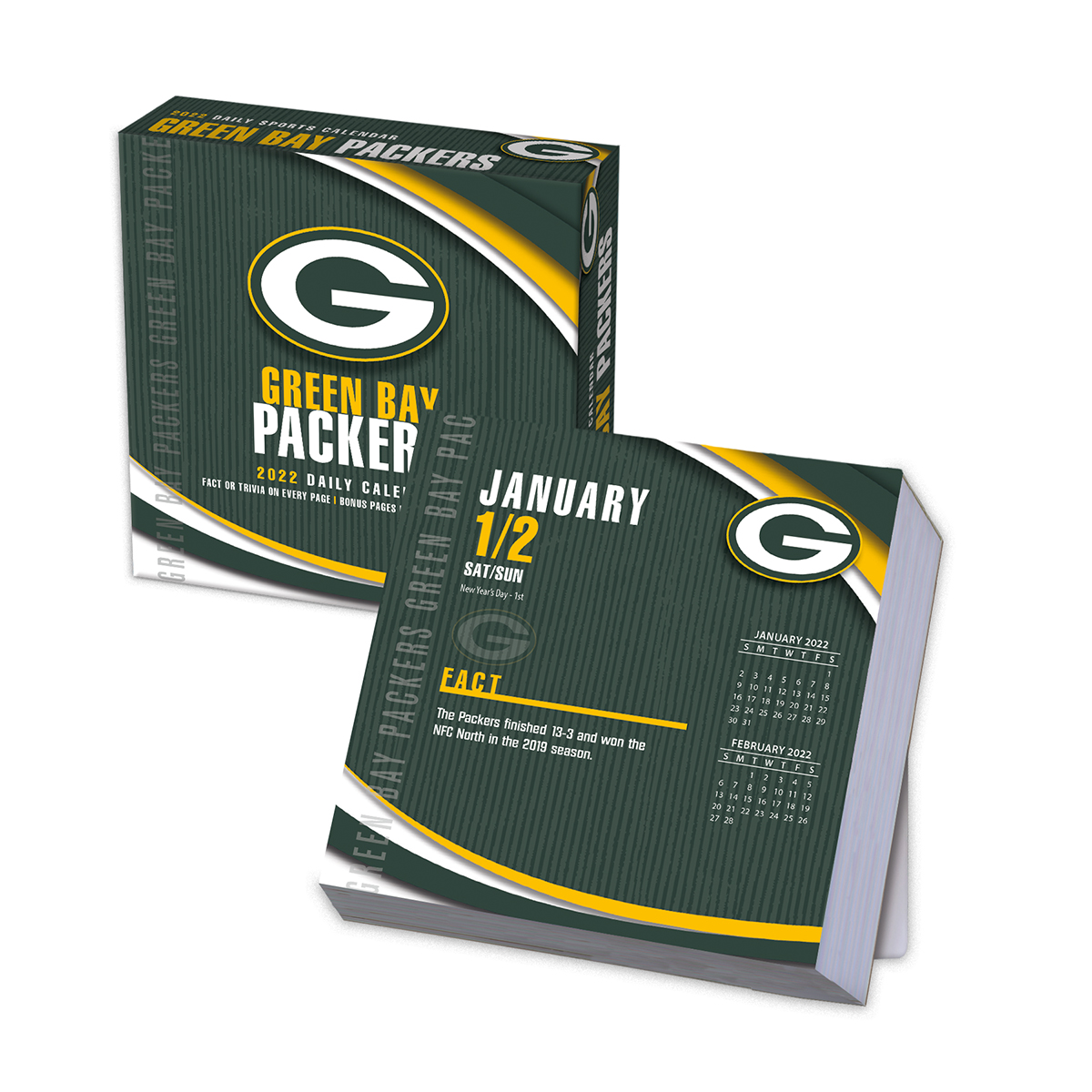 Green Bay Packers 2020 NFL Page-A-Day Box Calendar