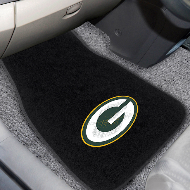 Green Bay Packers Car Floor Mats 17 x 26 Embroidered Pair