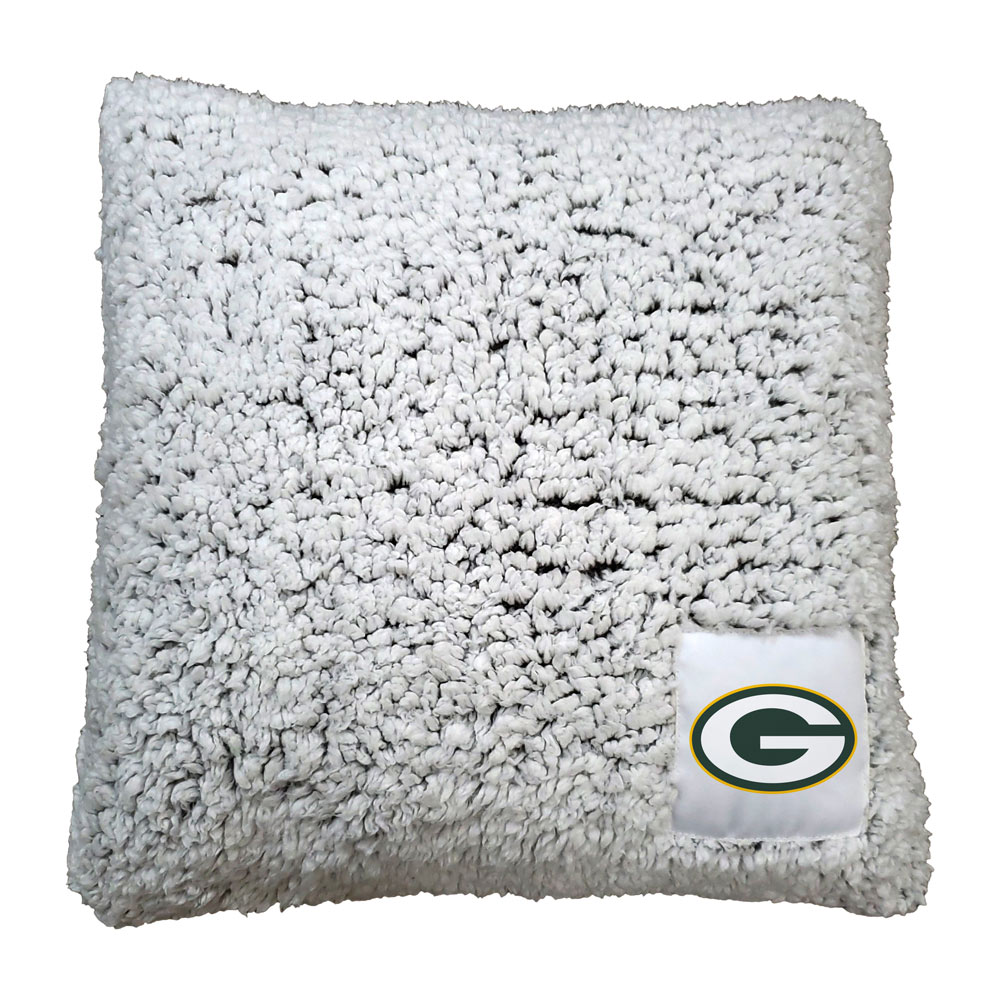 Green Bay Packers Frosty Throw Pillow
