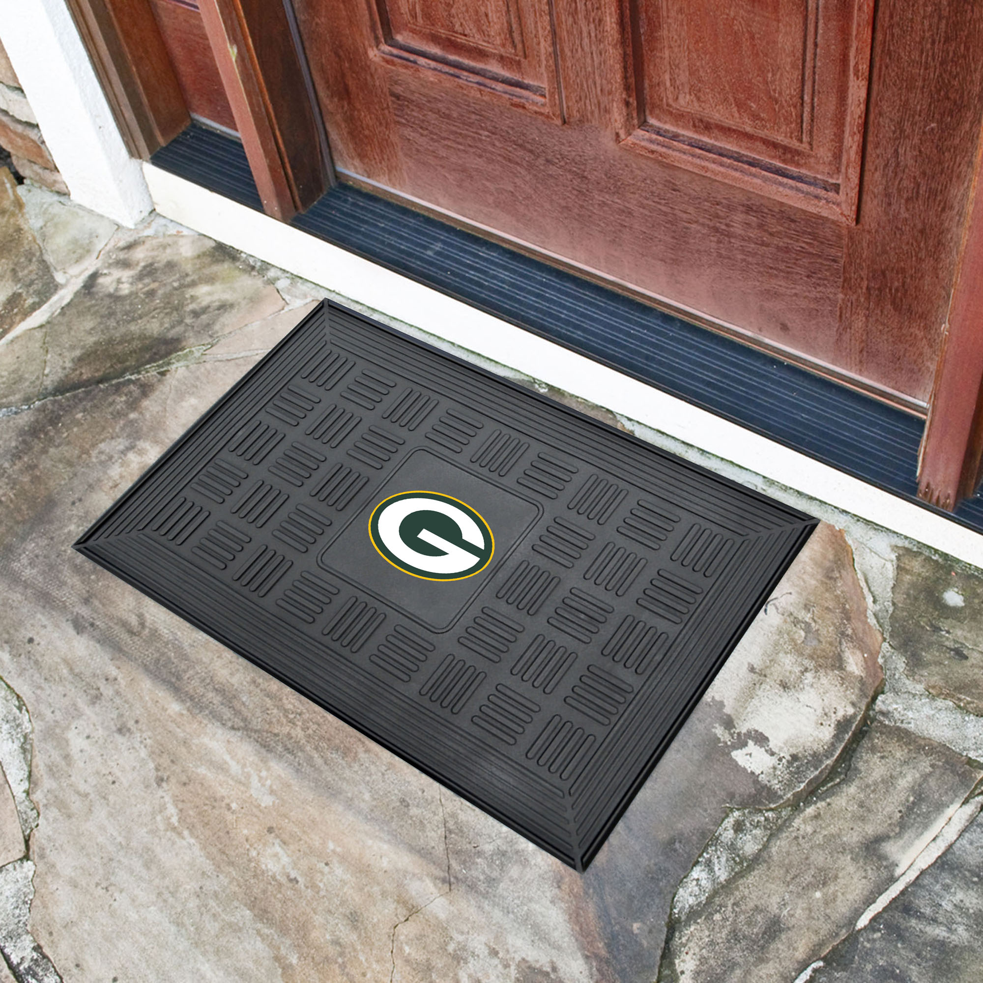 Green Bay Packers MEDALLION Vinyl Door Mat