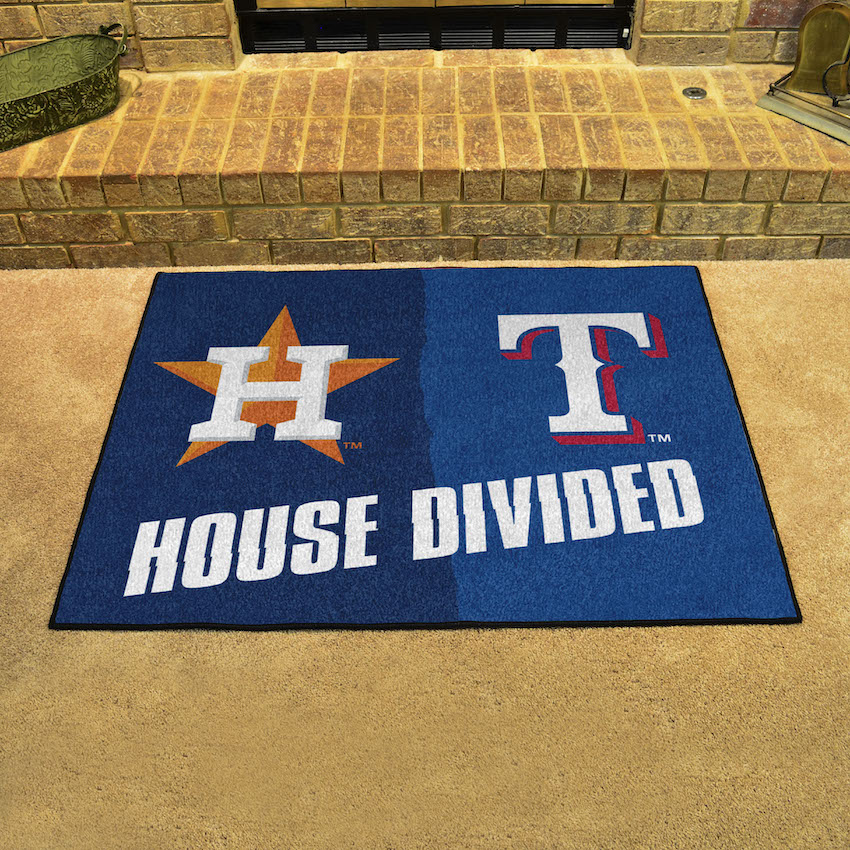 MLB House Divided Rivalry Rug Houston Astros - Texas Rangers