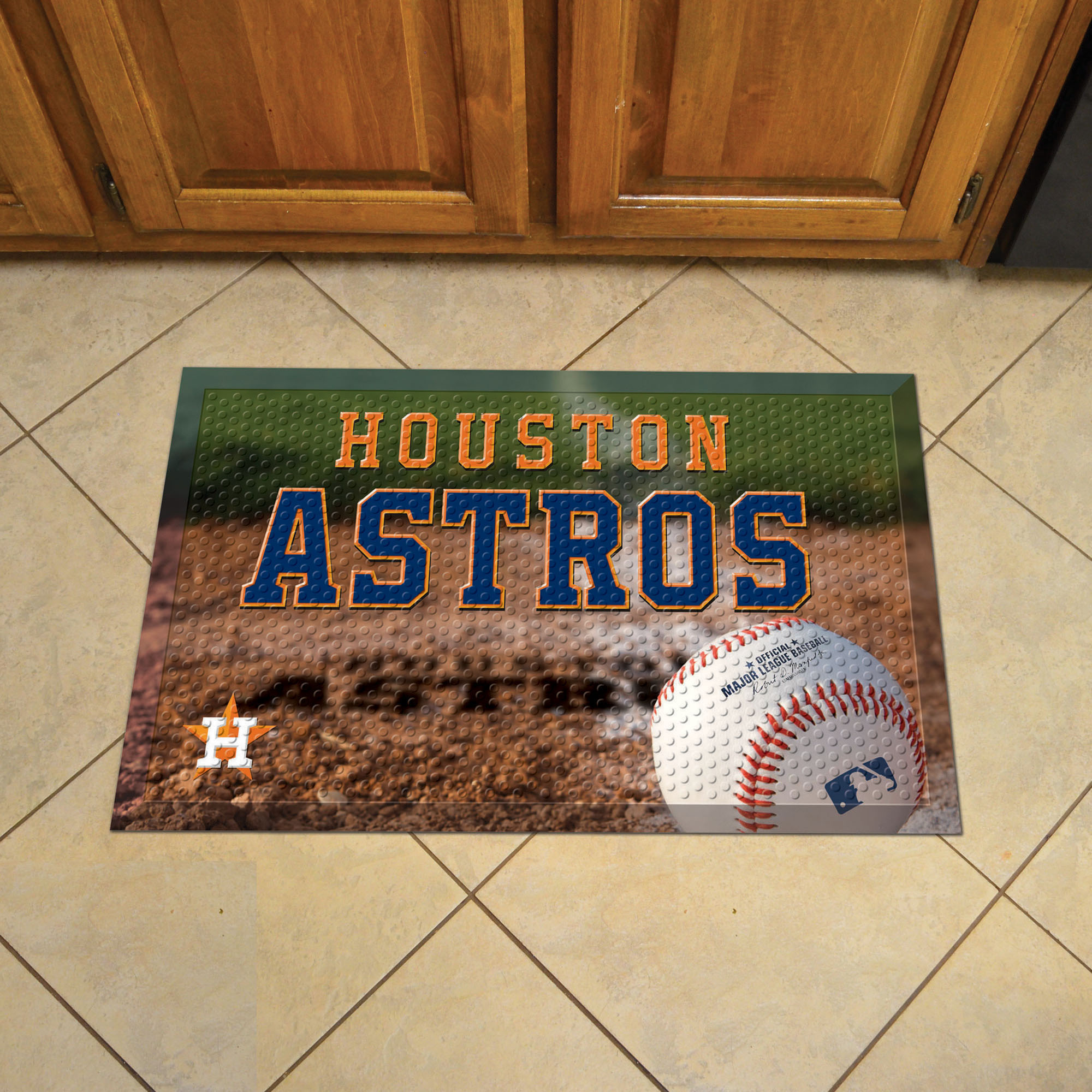 Houston Astros Ball Style SCRAPER Door Mat