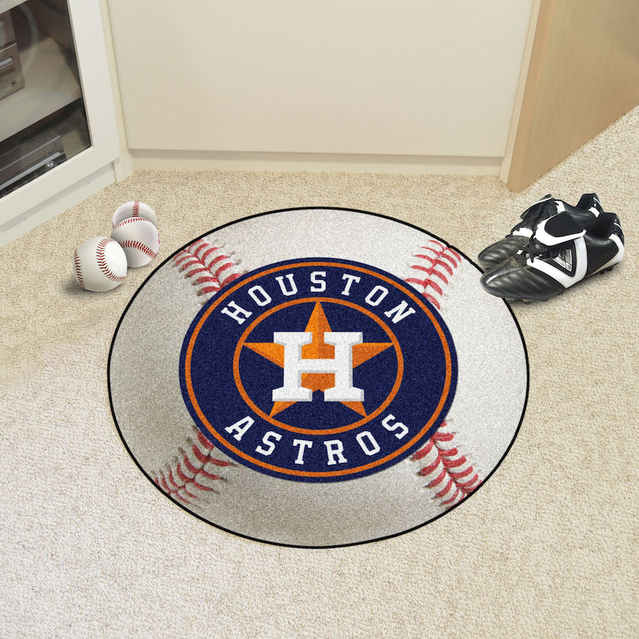 Houston Astros Round Baseball Mat