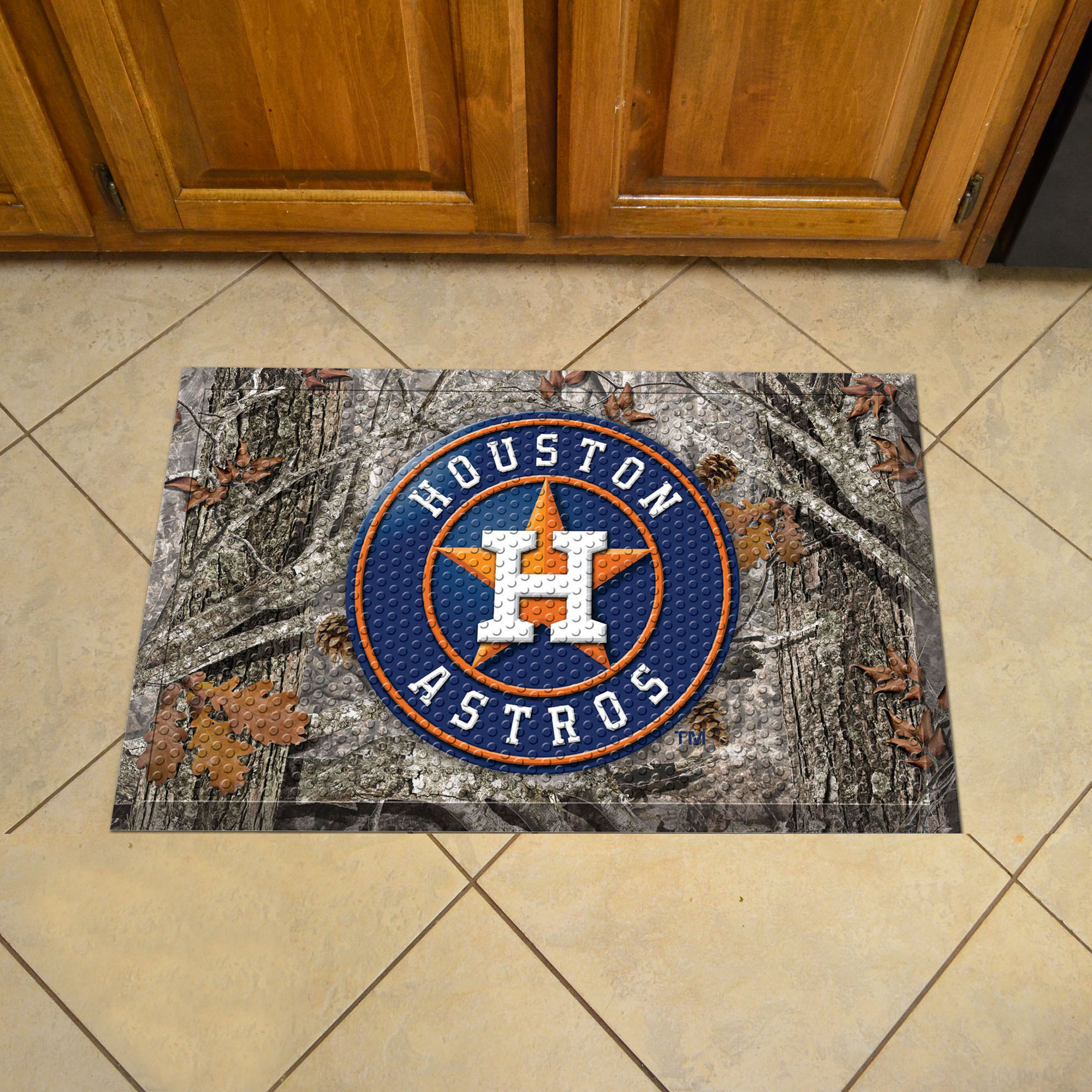 Houston Astros Camo Style SCRAPER Door Mat