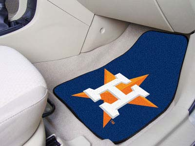 Houston Astros Car Floor Mats 18 x 27 Carpeted-Pair