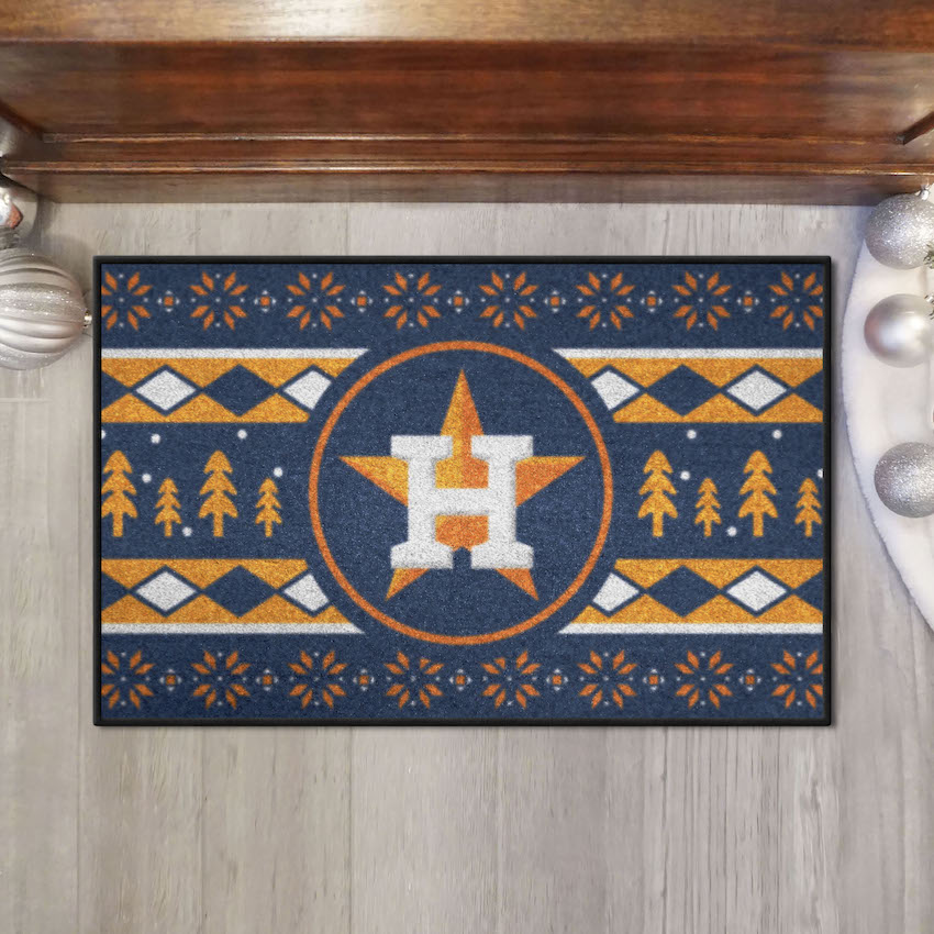 Houston Astros HOLIDAY SWEATER 20 x 30 STARTER Floor Mat