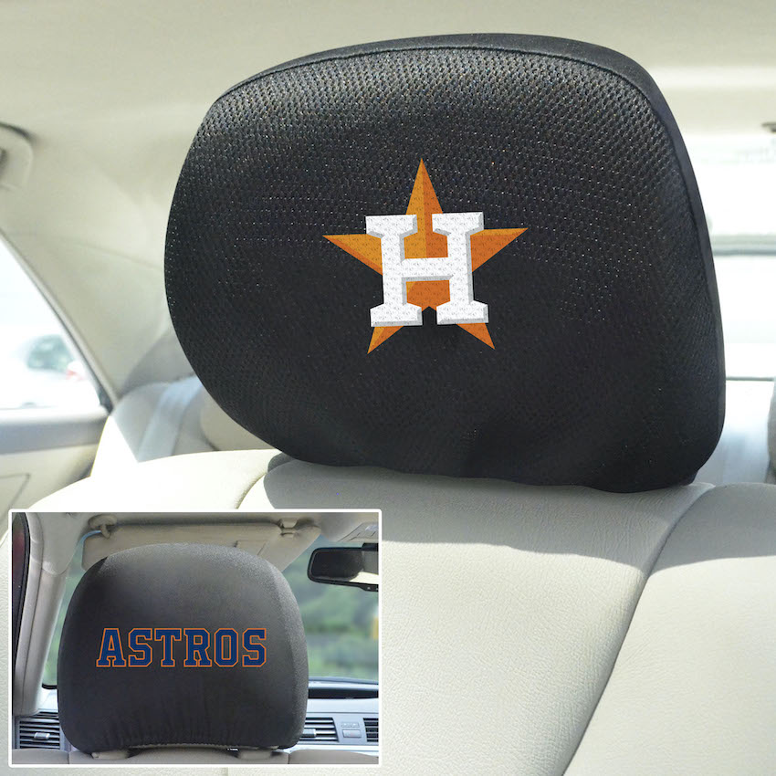 Houston Astros Head Rest Covers
