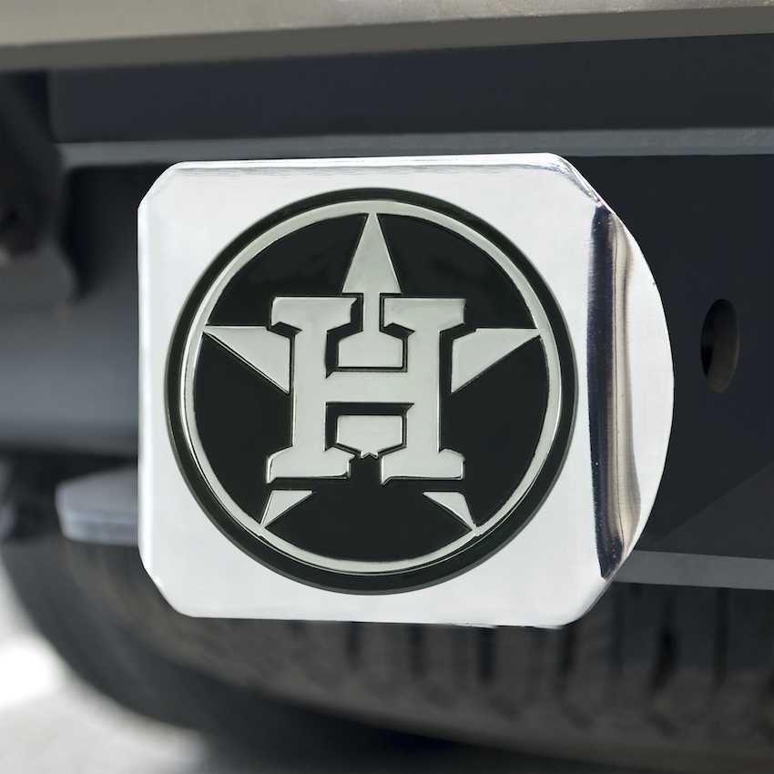 Houston Astros Chrome Trailer Hitch Cover