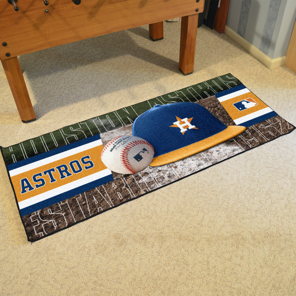 Houston Astros 30 x 72 Baseball Carpet Runner