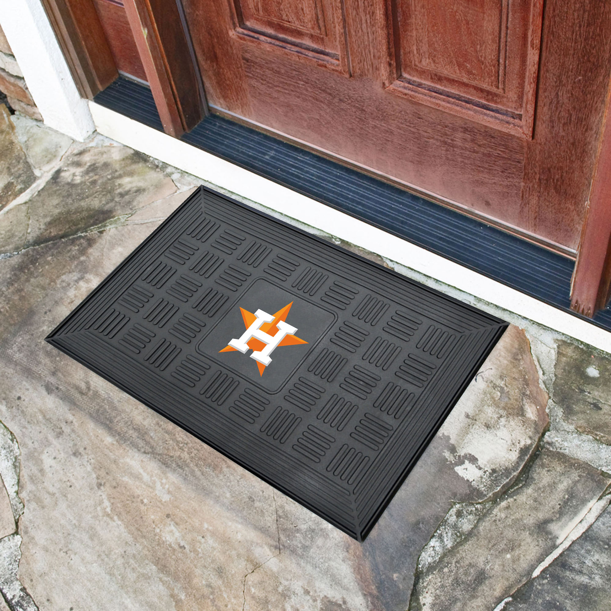 Houston Astros MEDALLION Vinyl Door Mat
