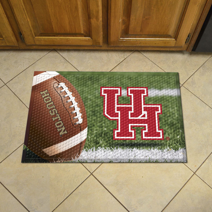 Houston Cougars Ball Style SCRAPER Door Mat