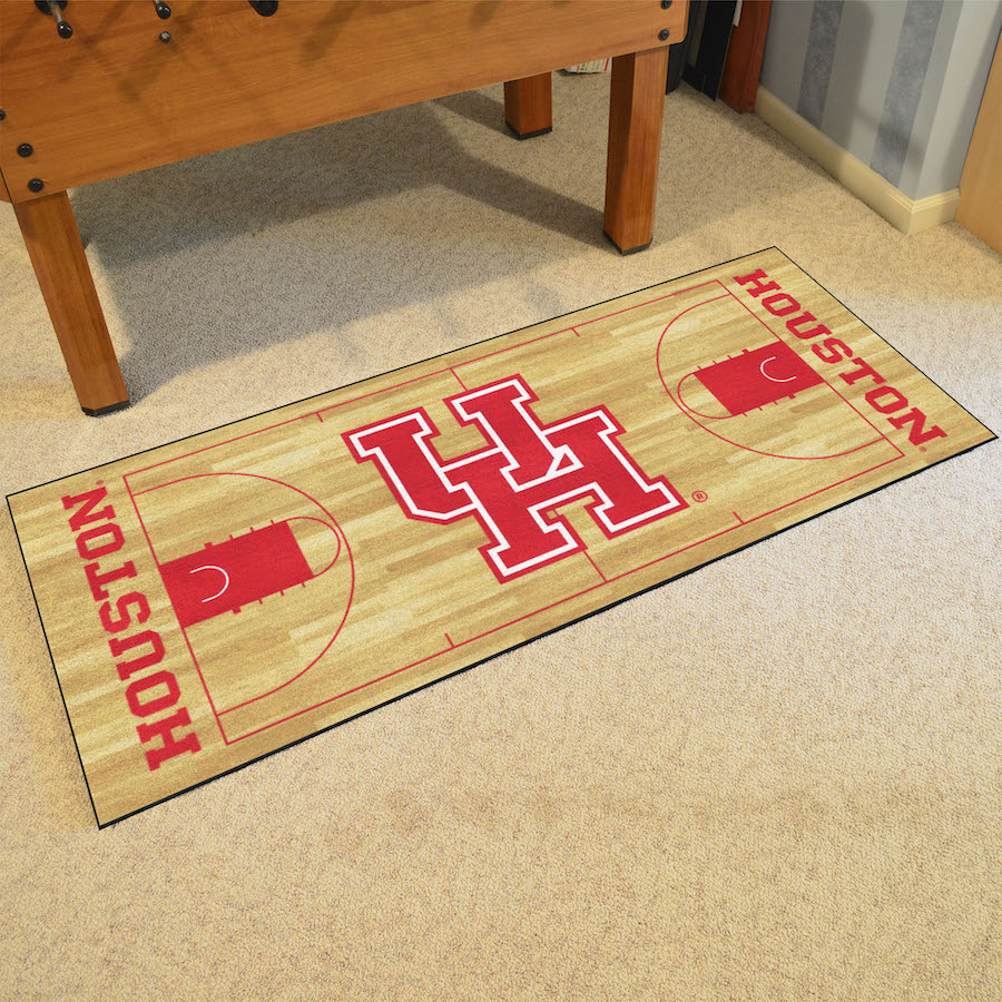 Houston Cougars 30 x 72 Basketball Court Carpet Runner