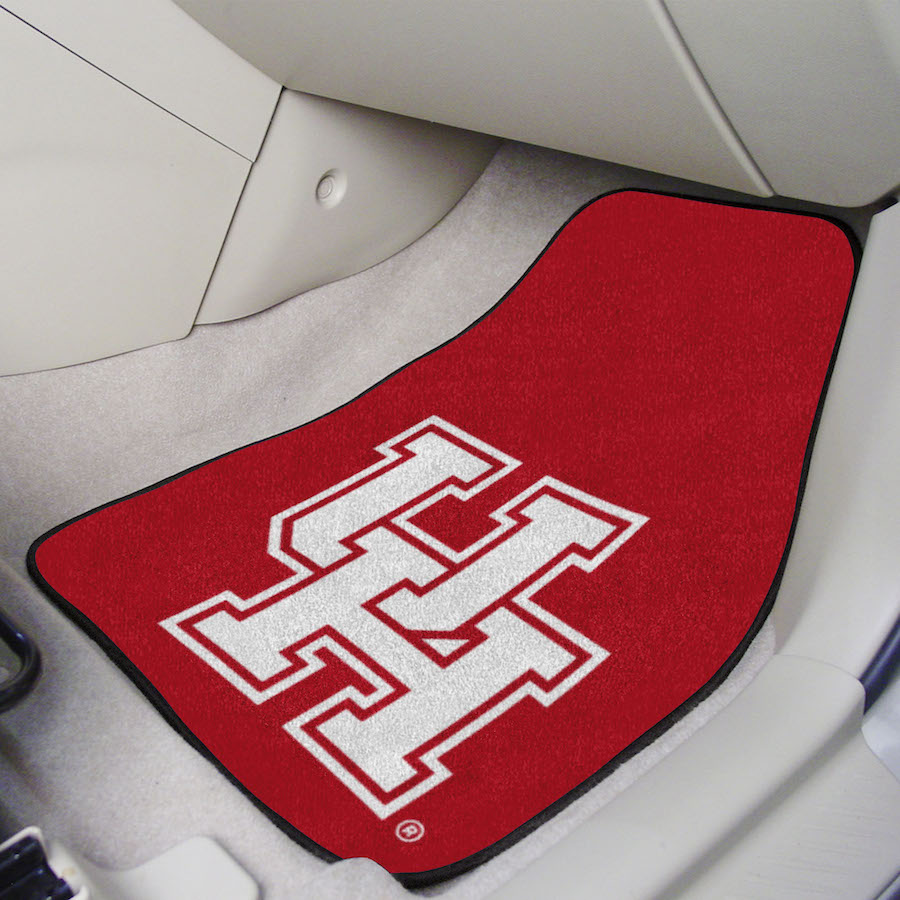 Houston Cougars Car Floor Mats 18 x 27 Carpeted-Pair