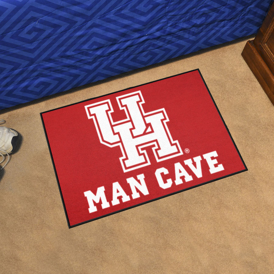 Houston Cougars MAN CAVE 20 x 30 STARTER Floor Mat