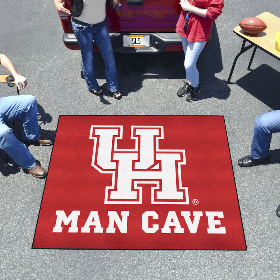 Houston Cougars MAN CAVE TAILGATER 60 x 72 Rug
