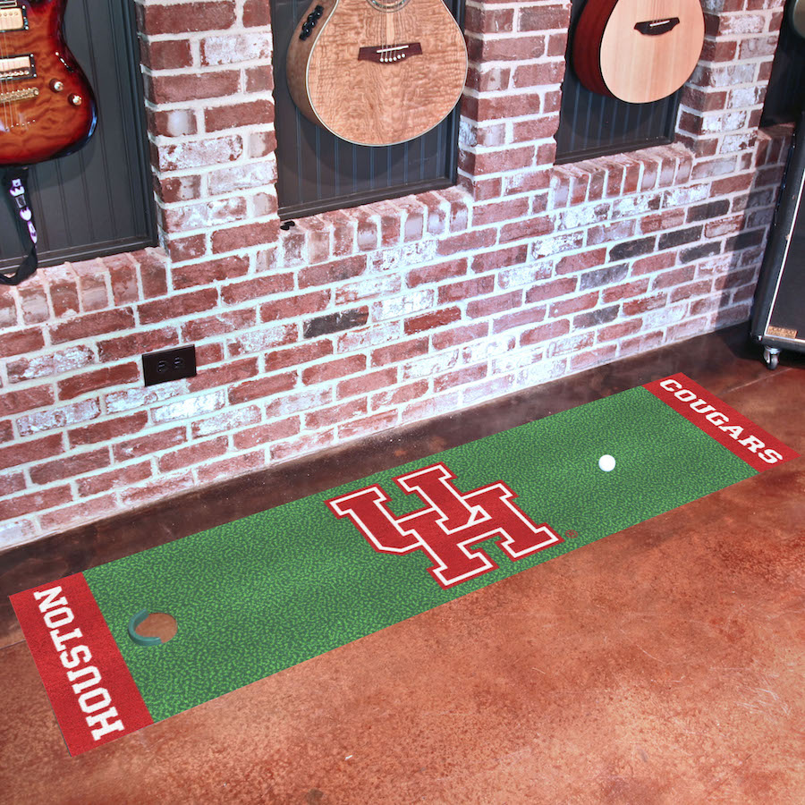 Houston Cougars Putting Green Mat 18 x 72