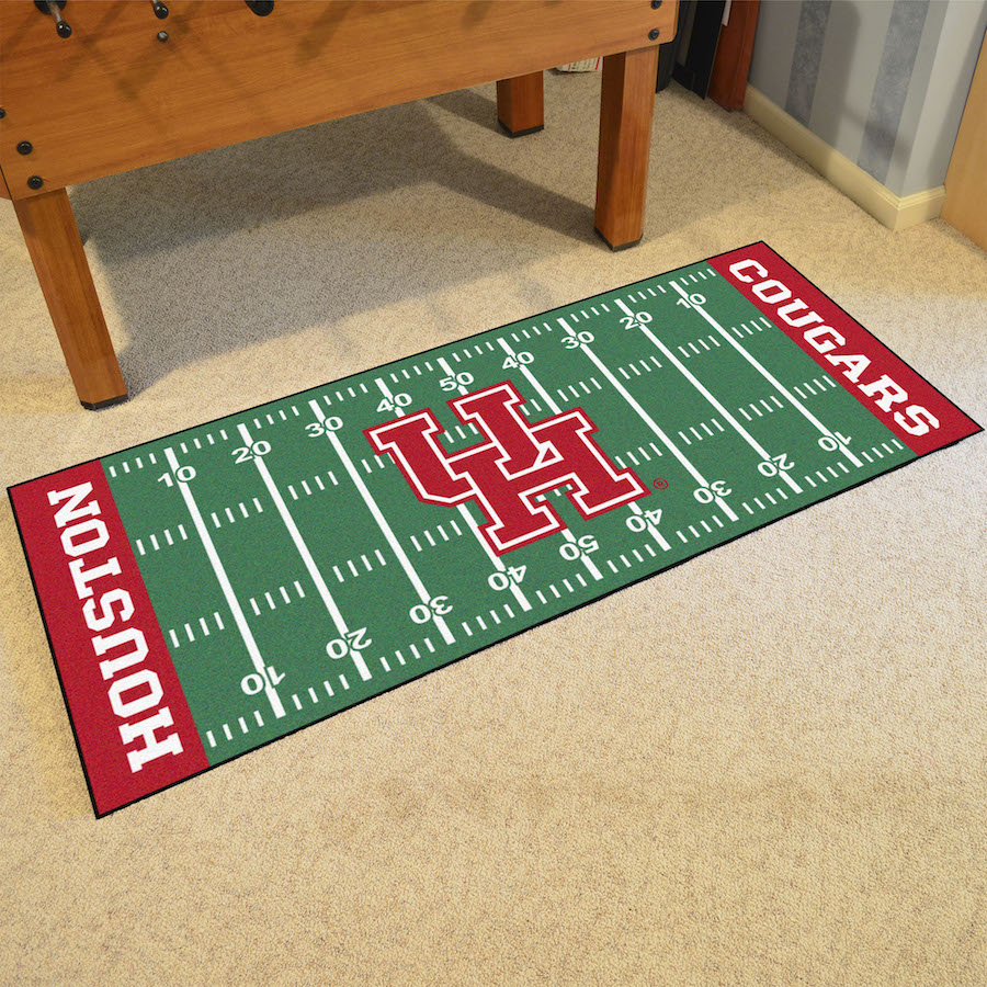 Houston Cougars 30 x 72 Football Field Carpet Runner