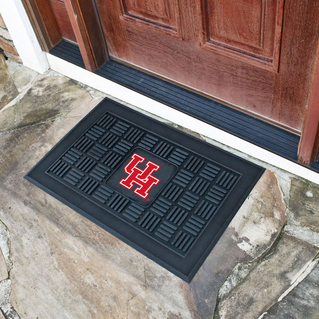 Houston Cougars MEDALLION Vinyl Door Mat