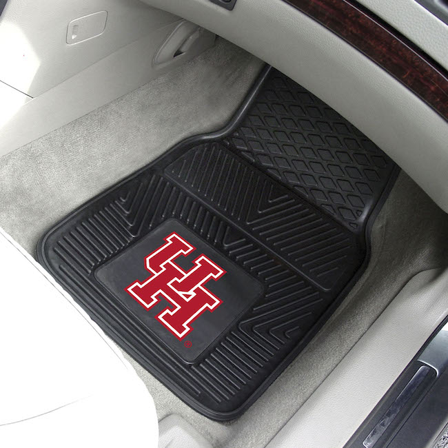 Houston Cougars Car Floor Mats 18 x 27 Heavy Duty Vinyl Pair