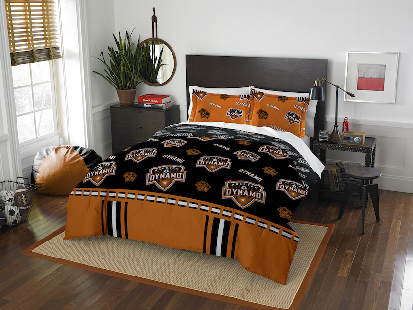 Houston Dynamo QUEEN/FULL size Comforter and 2 Shams