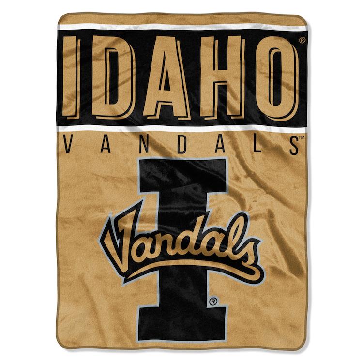 Idaho Vandals Large Plush Fleece Overtime 60 X 80 Blanket Buy At Khc Sports