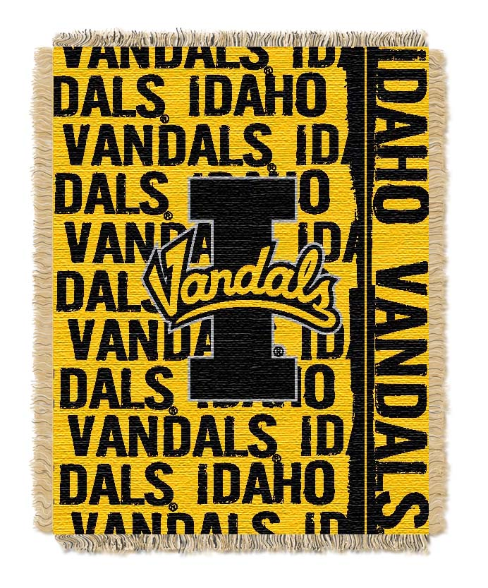 Idaho Vandals Double Play Tapestry Blanket 48 x 60