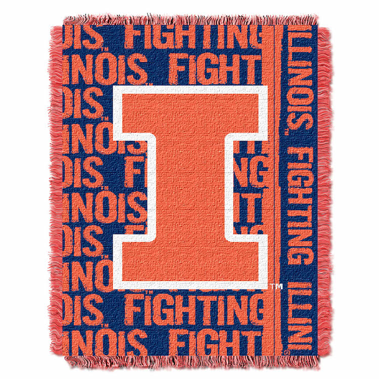 Illinois Fighting Illini Double Play Tapestry Blanket 48 x 60