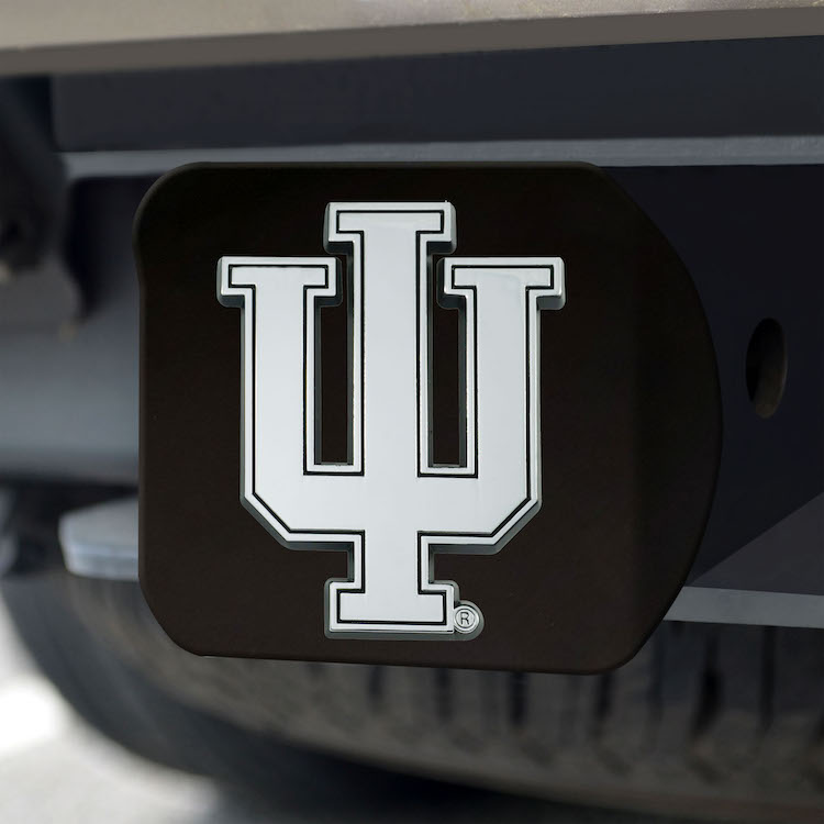 Indiana Hoosiers BLACK Trailer Hitch Cover