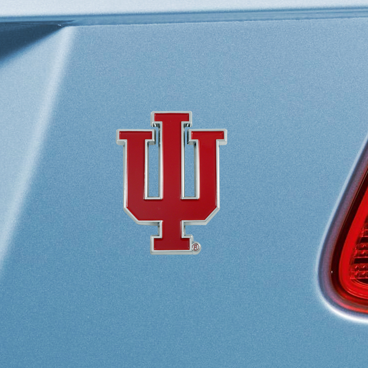 Indiana Hoosiers Color Metal Auto Emblem
